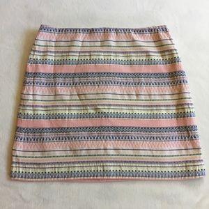 Ann Taylor Loft neon pastel geometric print skirt